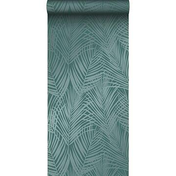 papel pintado hojas de palmera verde esmeralda de Origin