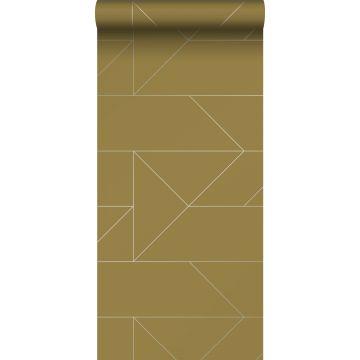 papel pintado líneas gráficas amarillo ocre de Origin