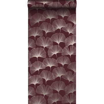 papel pintado hojas de ginkgo rojo y oro de Origin