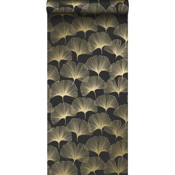 papel pintado hojas de ginkgo negro y oro de Origin