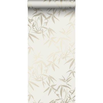 papel pintado hojas de bambú beige de Origin