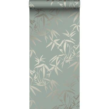 papel pintado hojas de bambú verde de Origin