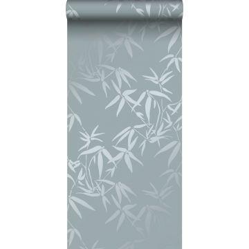 papel pintado hojas de bambú azul de Origin