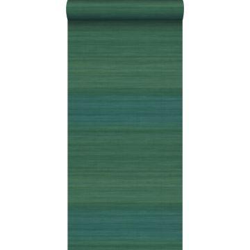 papel pintado estructura tejida con colores degradados verde mar de Origin