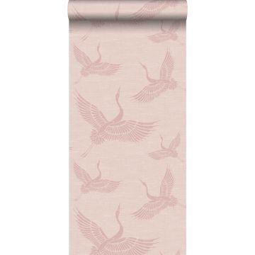 papel pintado pájaros grulla rosa viejo de Origin