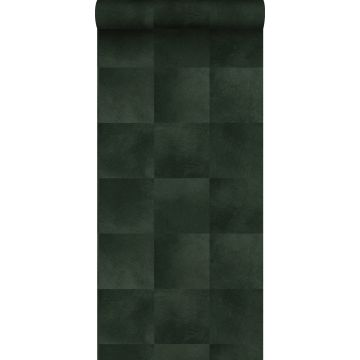 papel pintado textura de piel de animal verde oscuro de Origin