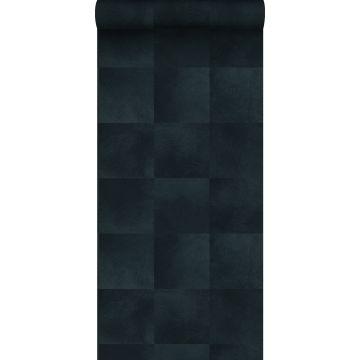 papel pintado textura de piel de animal azul tinta de Origin