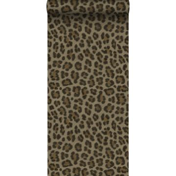 papel pintado piel de leopardo marrón y beige de Origin