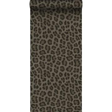 papel pintado piel de leopardo gris pardo de Origin