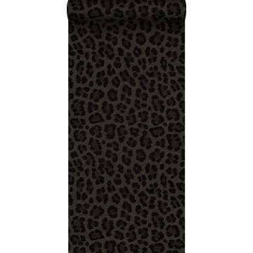 papel pintado piel de leopardo gris oscuro y negro de Origin