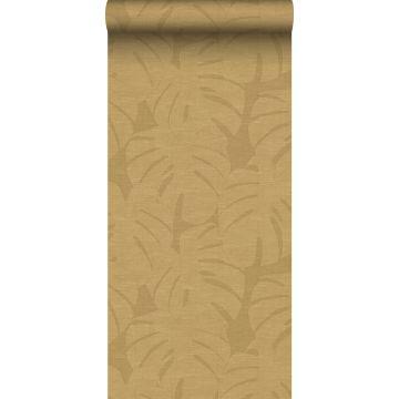 papel pintado hojas tropicales amarillo ocre de Origin