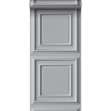 papel pintado lambris gris de Origin