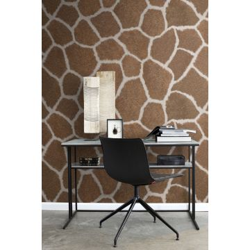 fotomural oficina en casa imitacion piel de jirafa marrón 357244