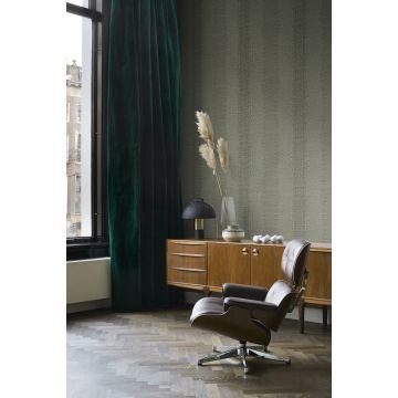 papel pintado salón piel de cocodrilo verde oliva agrisado 347773