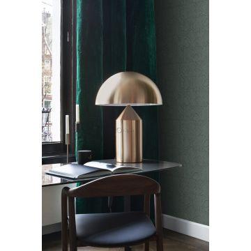 papel pintado oficina en casa motivo de azulejos con imitación de piel de serpiente azul petroleo 347788