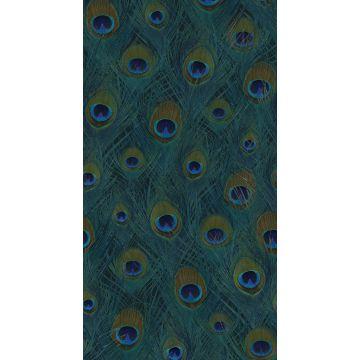 fotomural plumas de pavo real verde mar de Origin