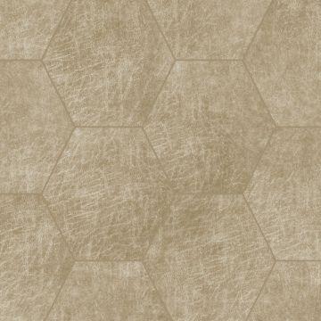 paneles eco-cuero autoadhesivos hexágono beige arena de Origin