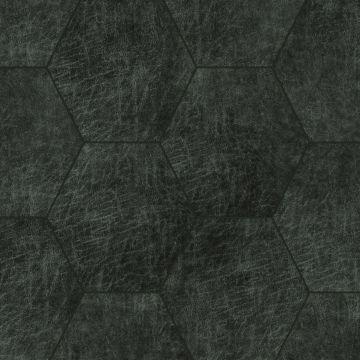 paneles eco-cuero autoadhesivos hexágono gris carbón de Origin