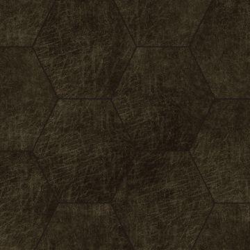 paneles eco-cuero autoadhesivos hexágono marrón oscuro de Origin