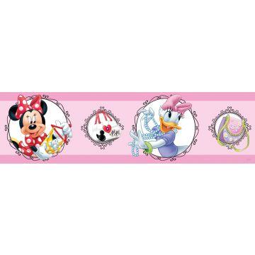 cenefa autoadhesiva Minnie Mouse & Pata Daisy rosa de Sanders & Sanders