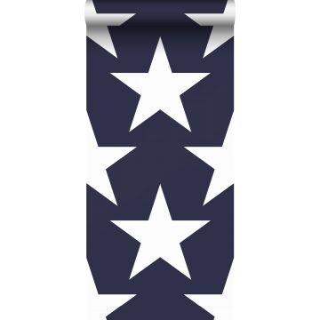 papel pintado estrellas azul marino de Sanders & Sanders