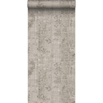 papel pintado patchwork kilim gris pardo de Sanders & Sanders