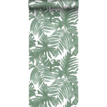 papel pintado hojas de palmera verde grisáceo de Sanders & Sanders